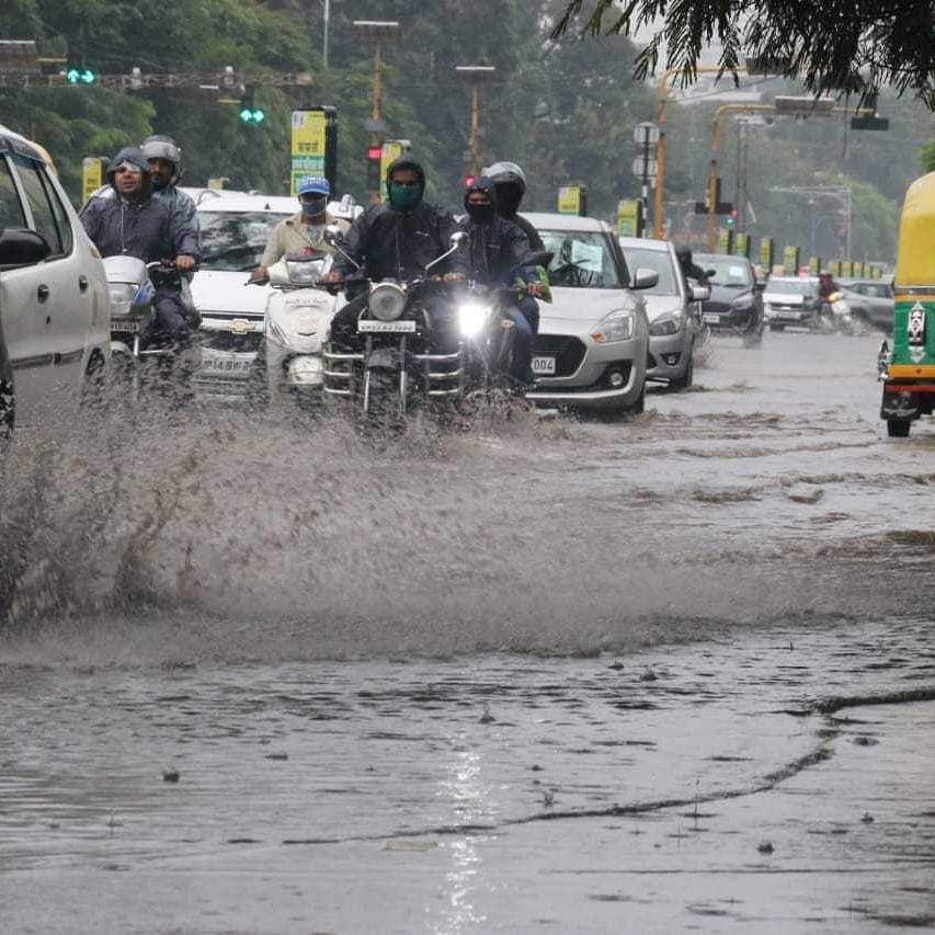 Friday Fury in Indore: Skies open up, rain logs out city parts