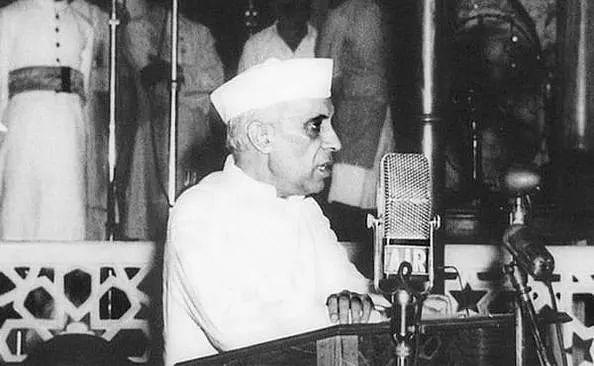 Jawaharlal Nehru declares India's freedom