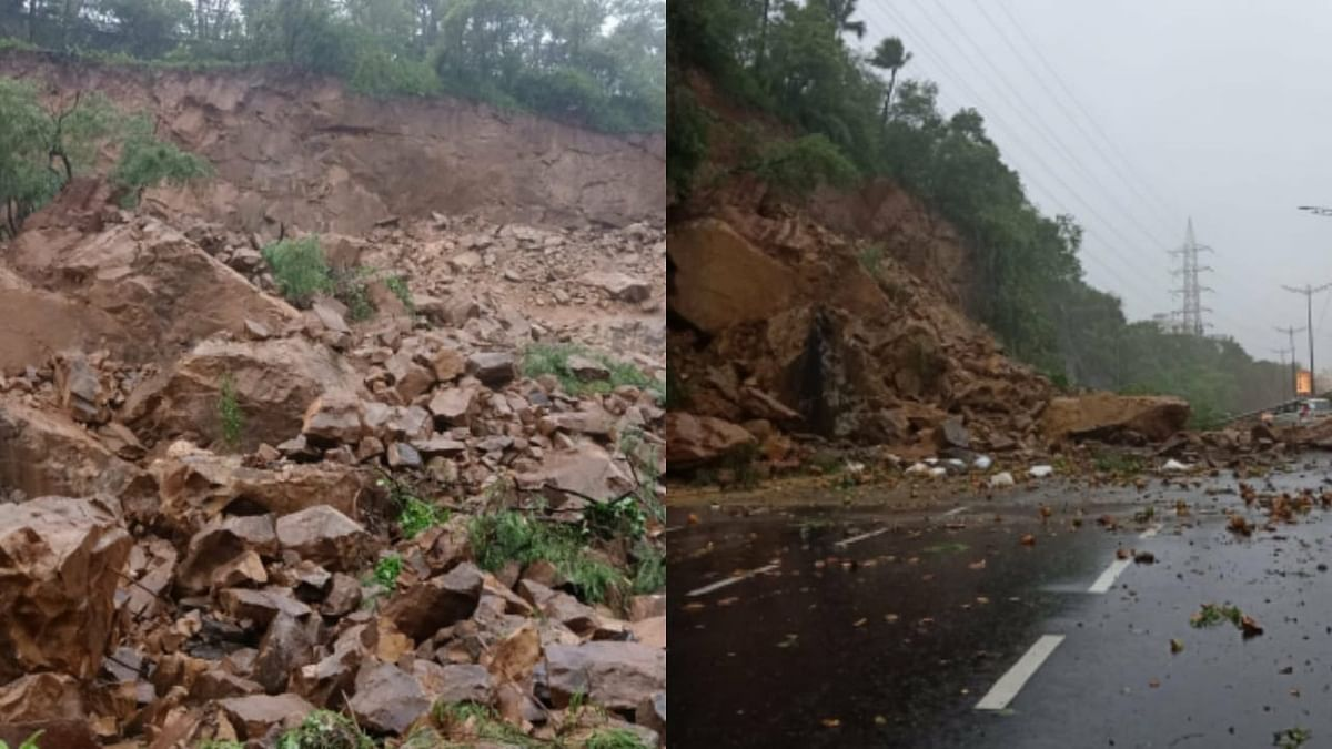 Southbound arm of WEH partially opened for traffic after the landslide
