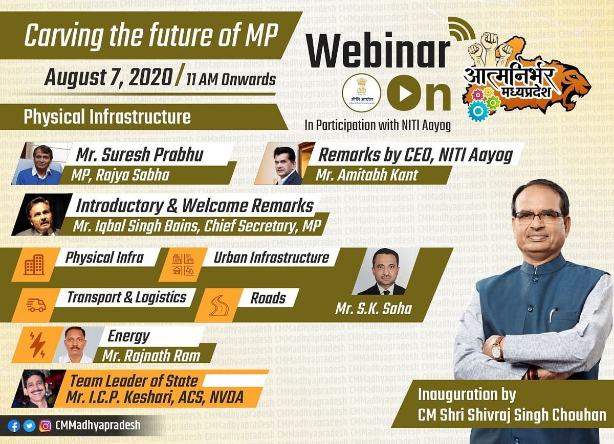 Department ministers will participate in the webinar on August 7 to share their thoughts on the roadmap to #AatmaNirbharMP.