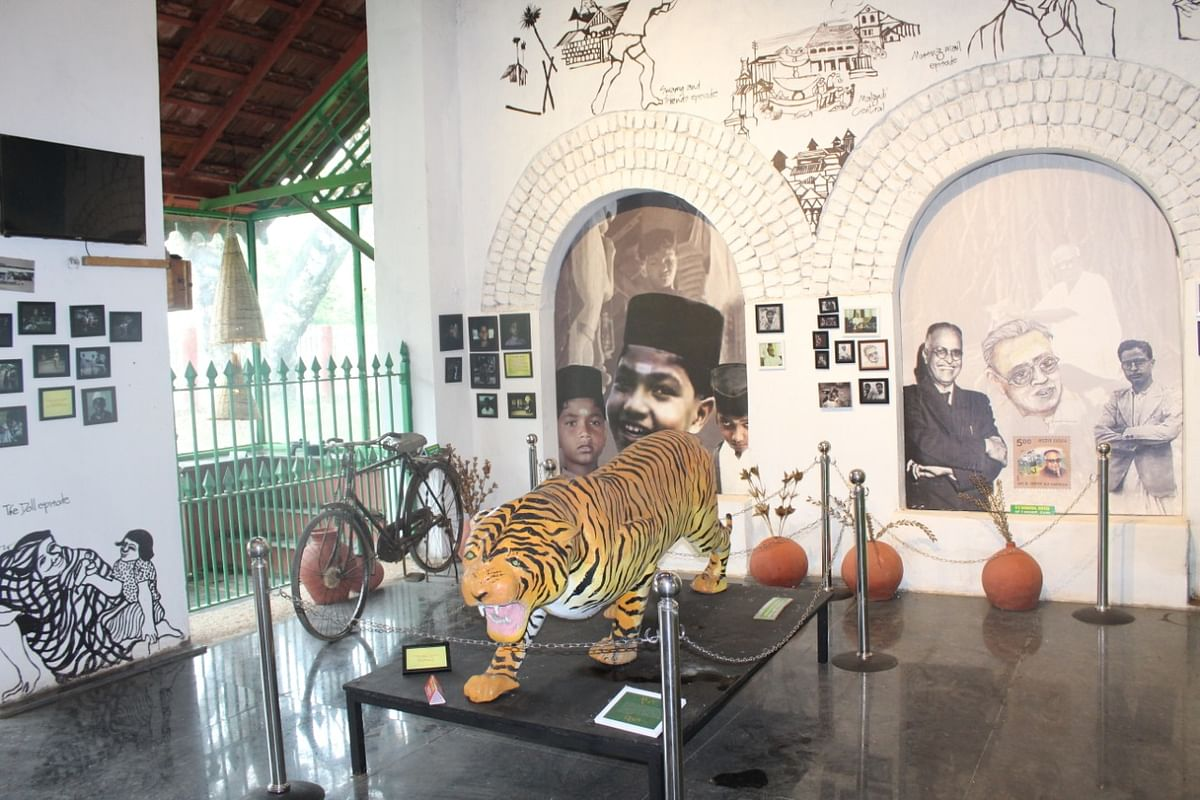 Suresh Angadi, MoSR inaugurates SWR's  Lifts at Shivamogga Rly station, newly added passenger amenities at Arasalu Station and dedicates 'Museum Malgudi' to the nation