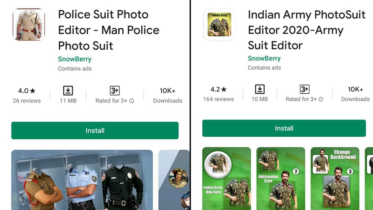 Police Suit Photo Editor and Indian Army PhotoSuit Editor 2020: How Pakistani Apps are targeting Indian Army enthusiasts and BJP supporters