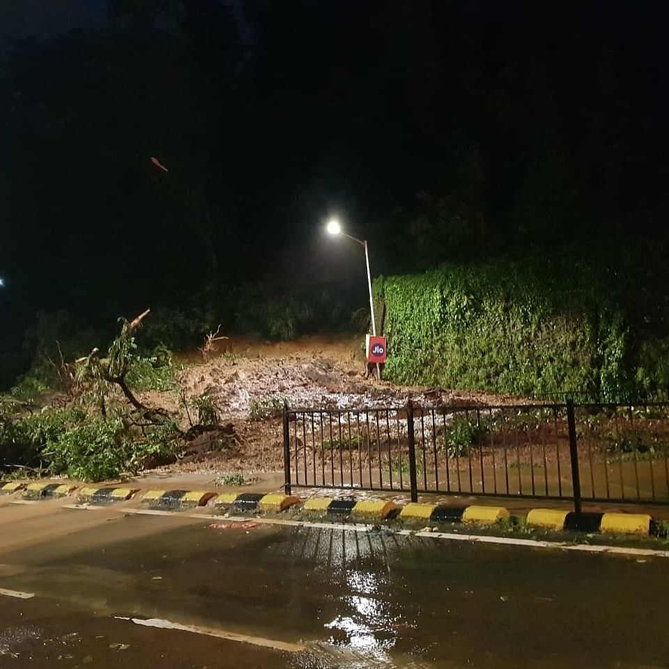 Mumbai Rains Latest Updates: Part of retaining wall of the Ridge Road near Peddar Road collapses