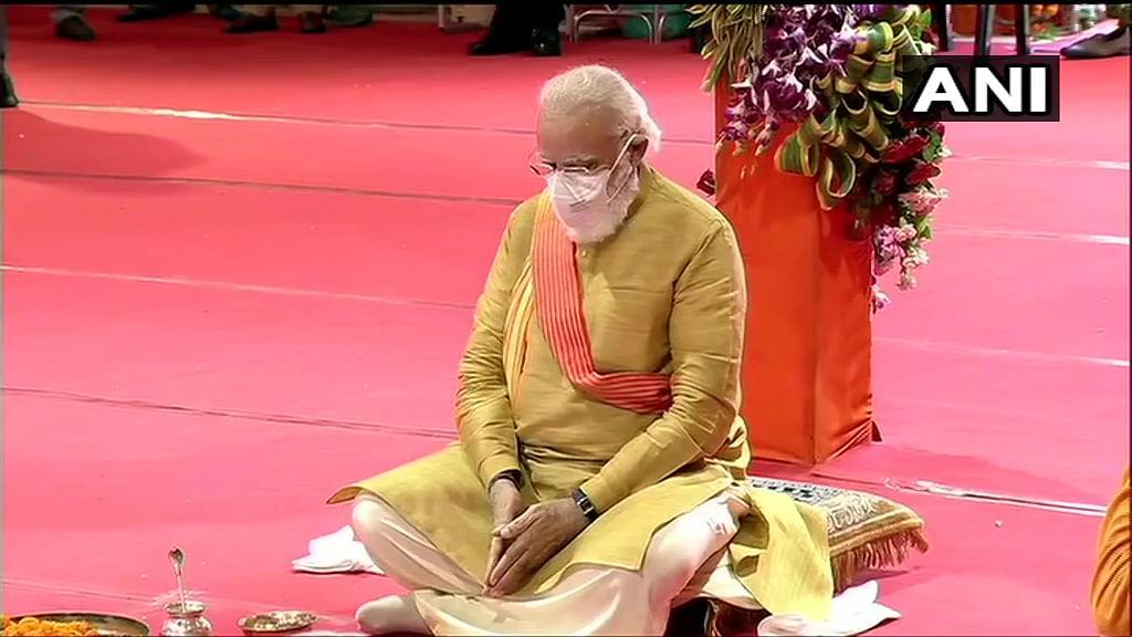Ram Mandir Bhoomi Pujan Live Updates: Prime Minister Narendra Modi performs 'Bhoomi Pujan' at Ram Janambhoomi site