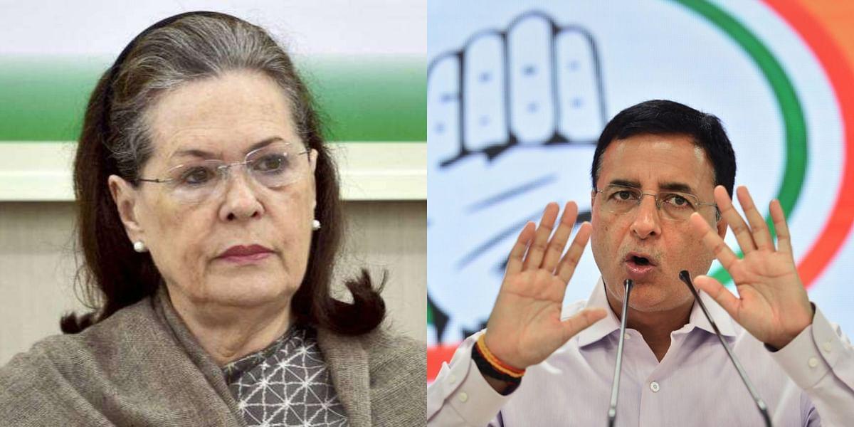 Randeep Singh Surjewala rubbishes reports of Sonia Gandhi's resignation from Congress interim president post