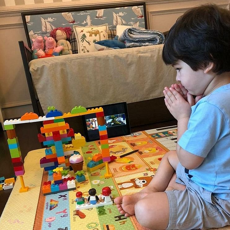 Taimur Ali Khan's DIY Ganpati idol is made of legos