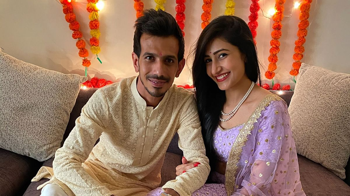 Yuzvendra Chahal with Dhanashree Verma
