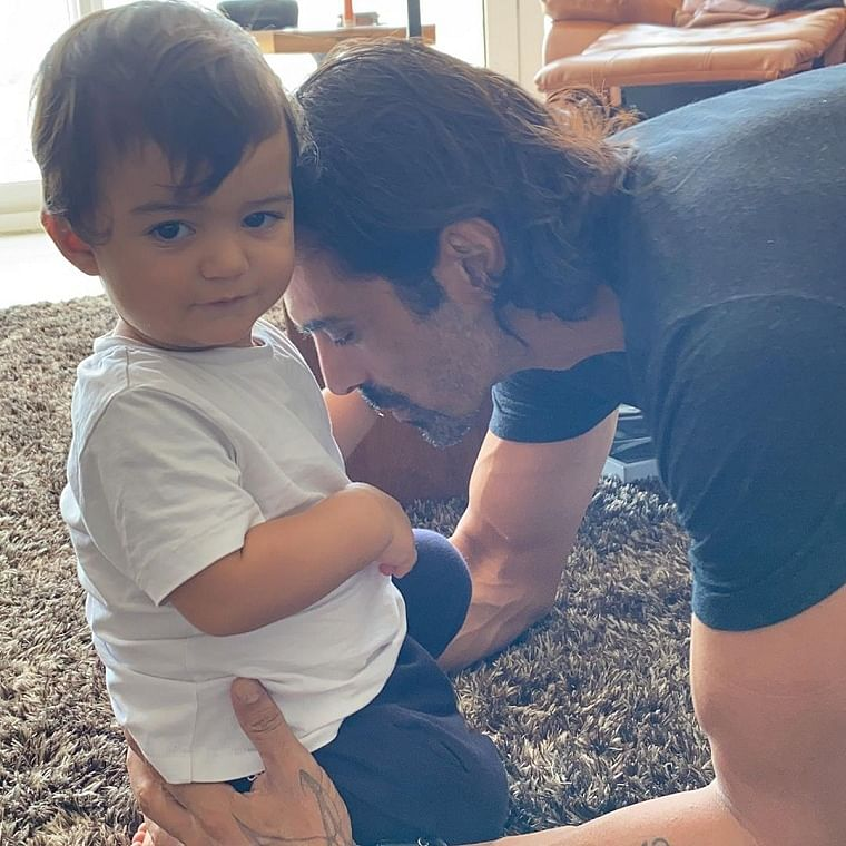 Arjun Rampal with son Arik