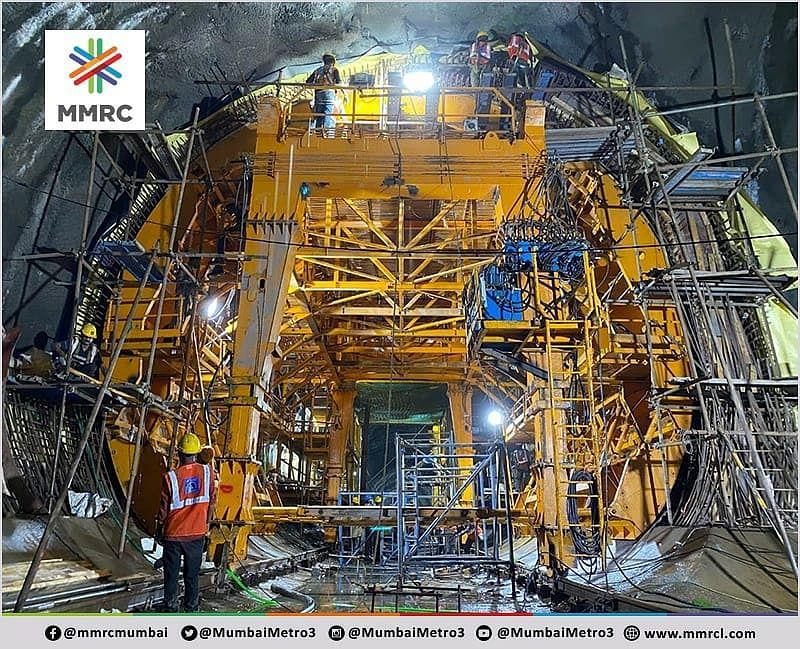 Mumbai Metro 3: Marol Naka station's tunnel lining begins