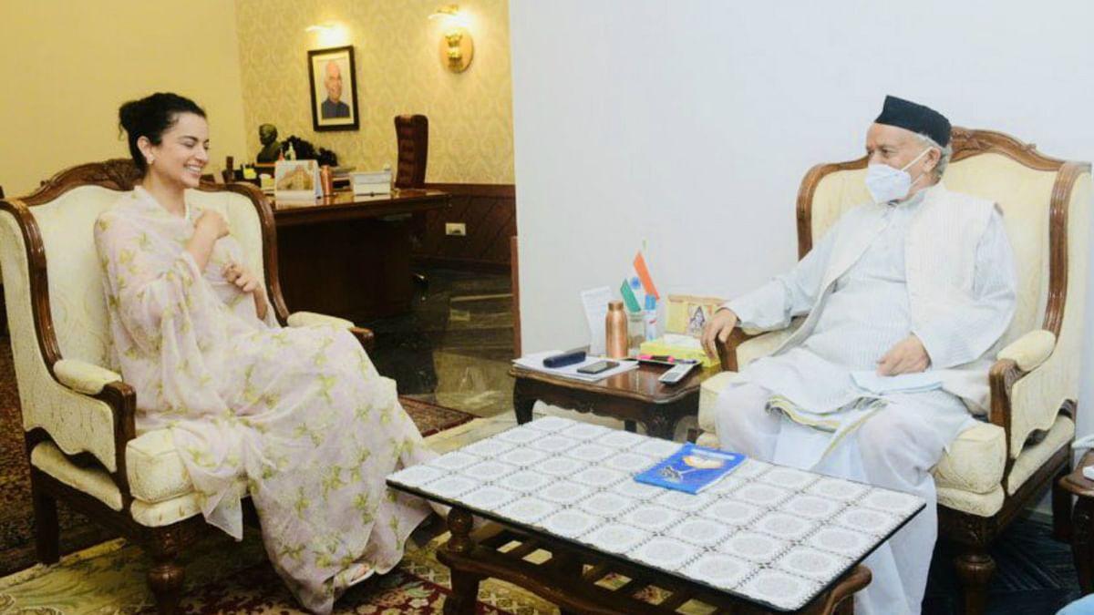 Kangana Ranaut meeting Maha Governor BS Koshyari in Mumbai