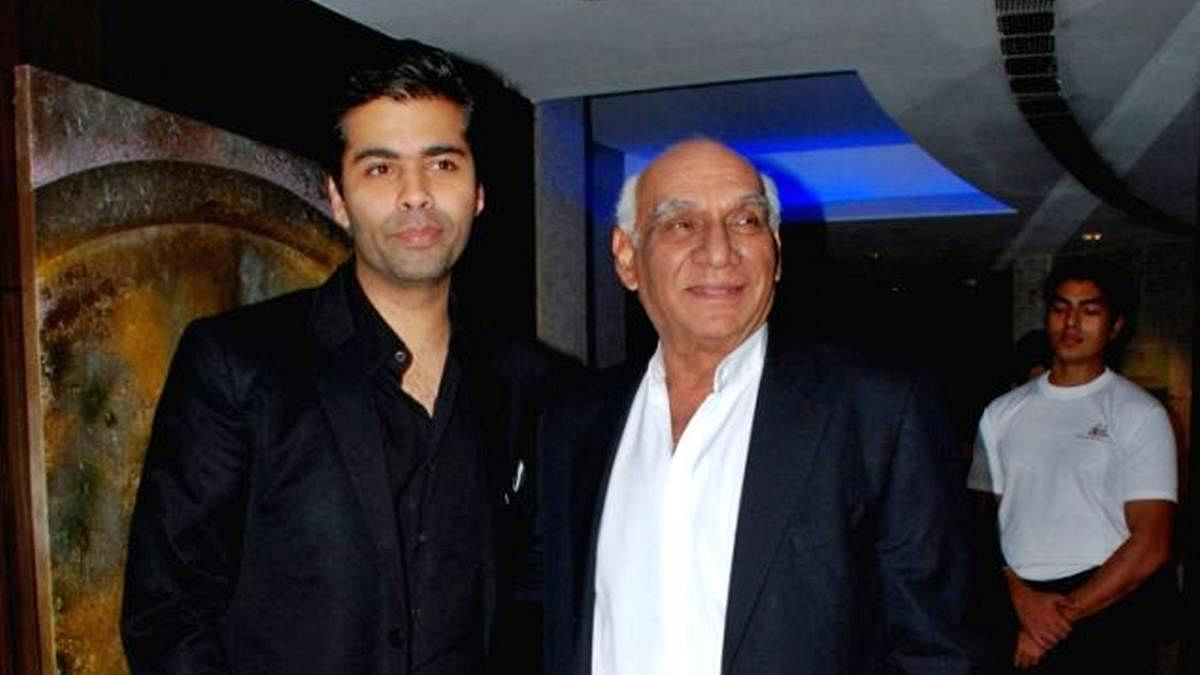 Karan Johar and Yash Chopra