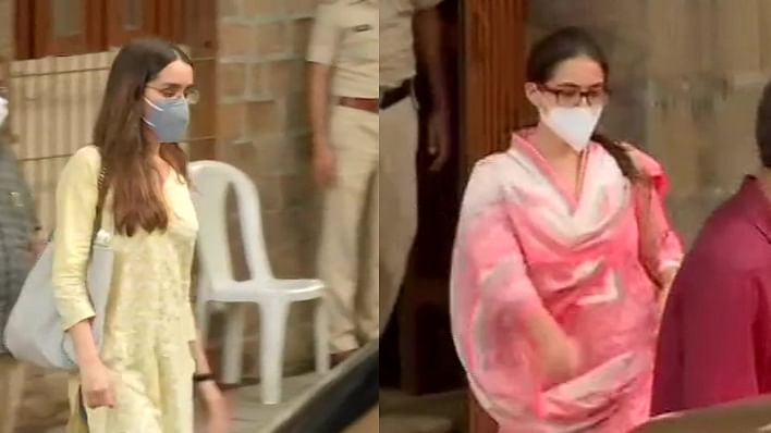 Shraddha Kapoor, Sara Ali Khan leave NCB office after being questioned in drug case linked to Sushant Singh Rajput's death