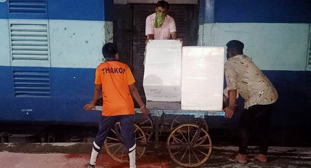 Western Railway transports Gujarat fish from Okha to West Bengal