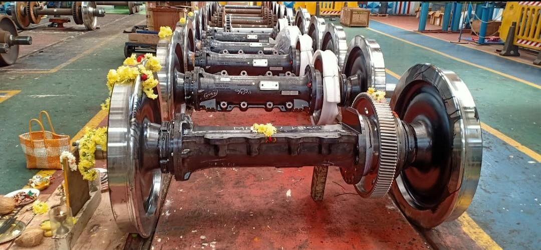 Mysuru workshop successfully manufacture three-phase MEMU motor coach wheelset