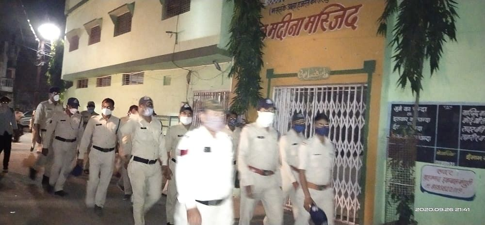 Indore: Chandan Nagar police take out domination march