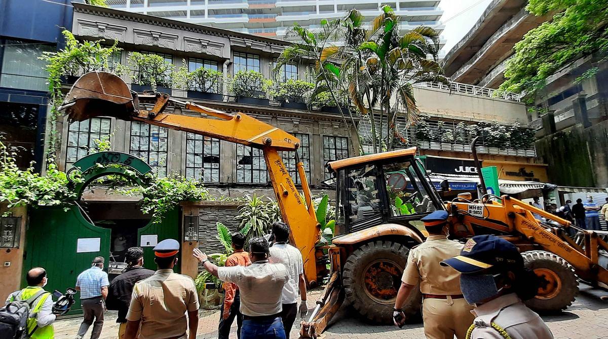 BMC demolished a part of Kangana Ranaut's Pali Hill bungalow recently (file pic).