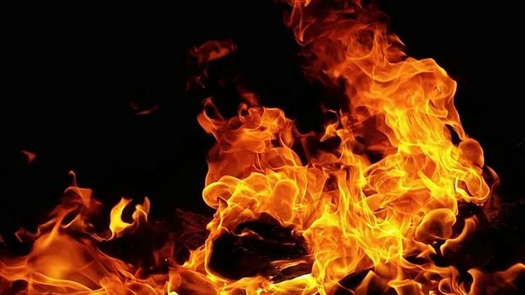 Bhopal: Fire breaks out inside an AC godown at Azad Nagar