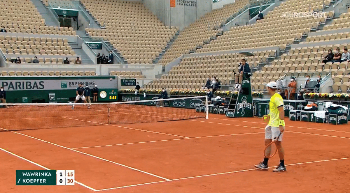 Watch: Sonic boom heard during French Open match featuring Wawrinka and Koepfer