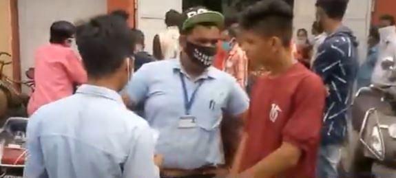 Few students violate protocols of controlling coronavirus at examination centres.