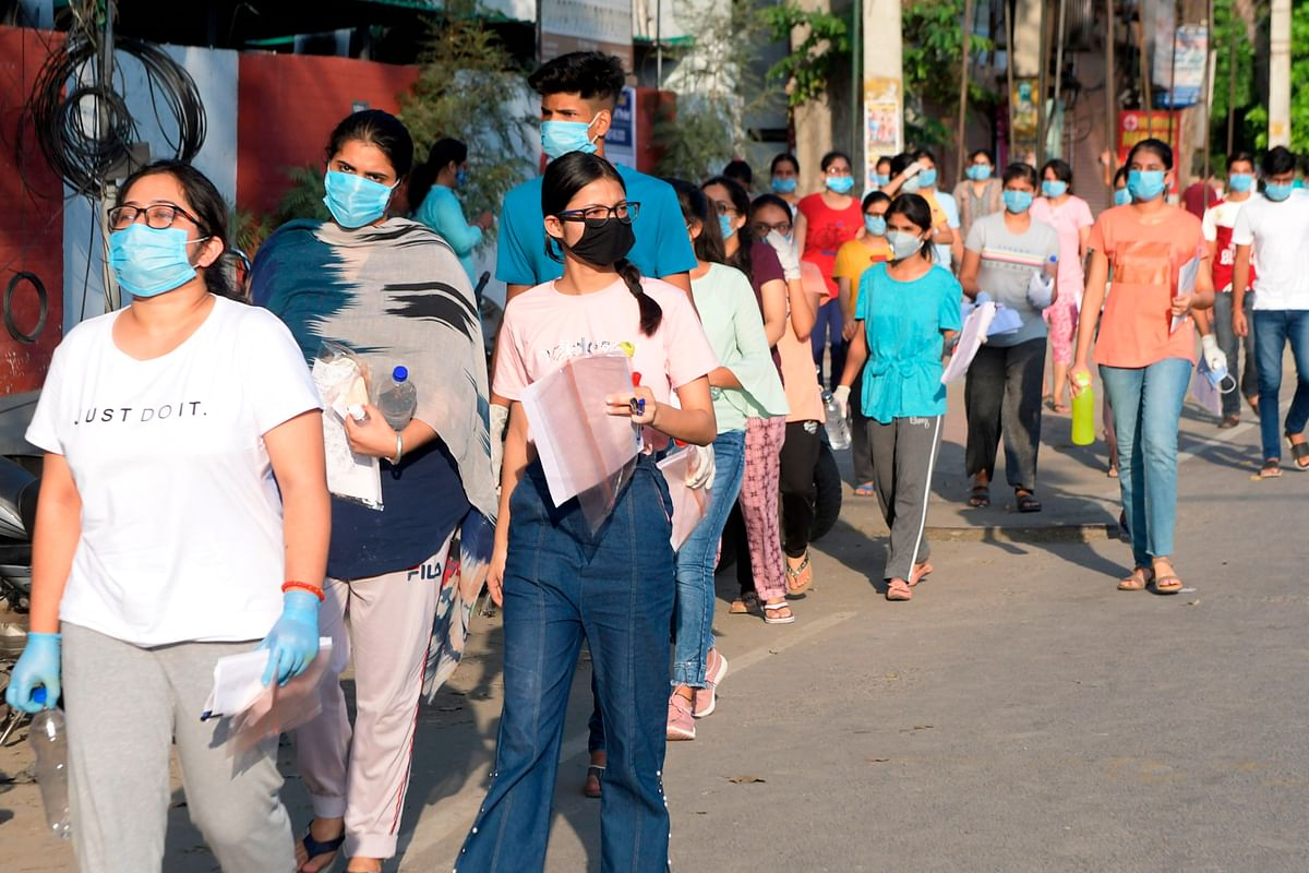 NEET 2020: Nearly 90% took the exam amid strict COVID-19 precautions; see pics