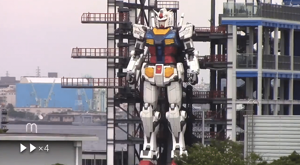 Netizens thrilled as 60-feet tall Gundam robot replica gets into 'testing mode', video goes viral