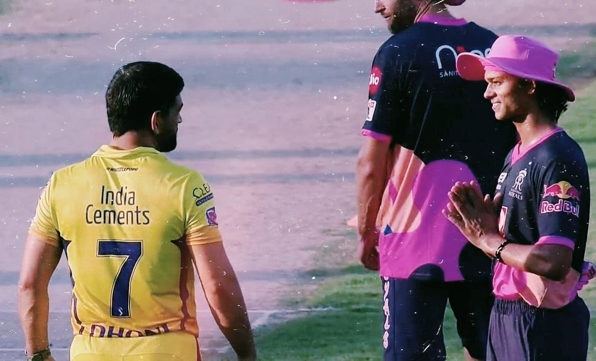 'Some pics don't need caption': With folded hands, Yashasvi Jaiswal seeks Dhoni's blessings before IPL debut