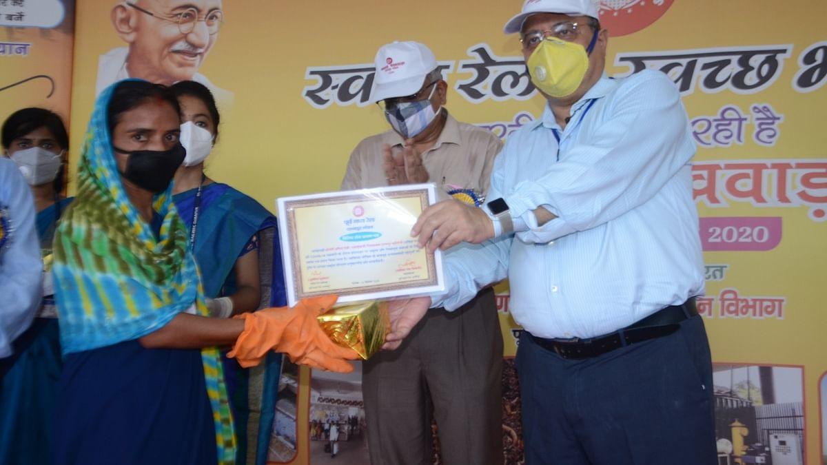 East Central Railway, General Manager, Lalit Chandra Trivedi unveils solid waste management plant at Patna Junction