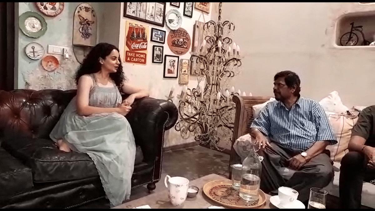 Watch: Kangana hails Ambedkar even as Athawale calls her Kangana 'Ravan' Ranaut