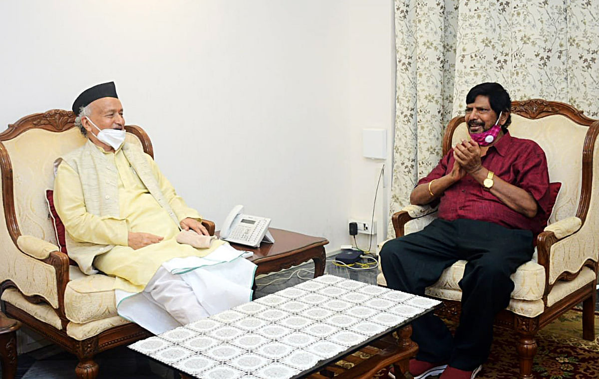 Union Minister of State for Social Justice Ramdas Athavale meet Governor BS Koshyari.