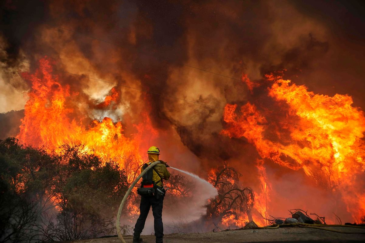 Gender-reveal party triggers California wildfire