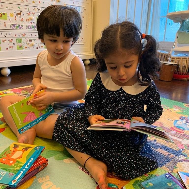Inaaya Naumi Kemmu turns three: Kareena Kapoor Khan posts adorable picture of Taimur with Soha's daughter