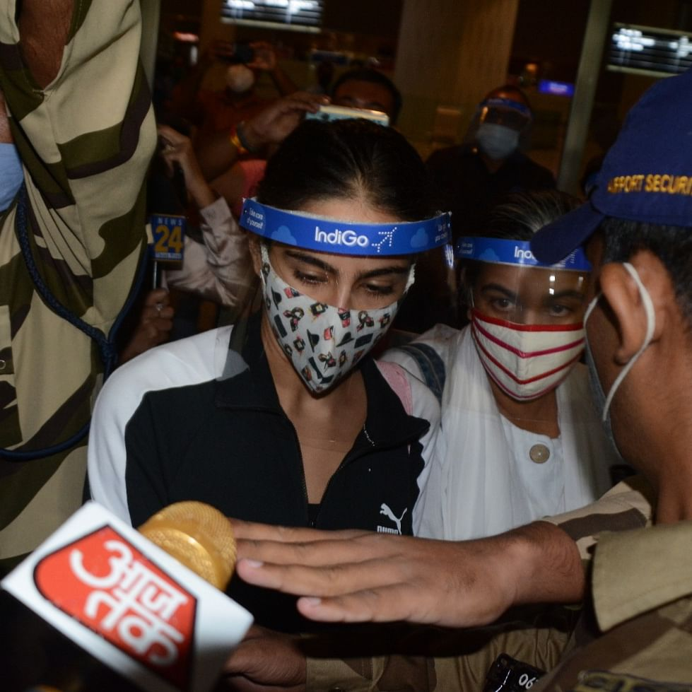 Sara Ali Khan reaches Mumbai, to be interrogated by Narcotics Control Bureau in Sushant Singh Rajput case