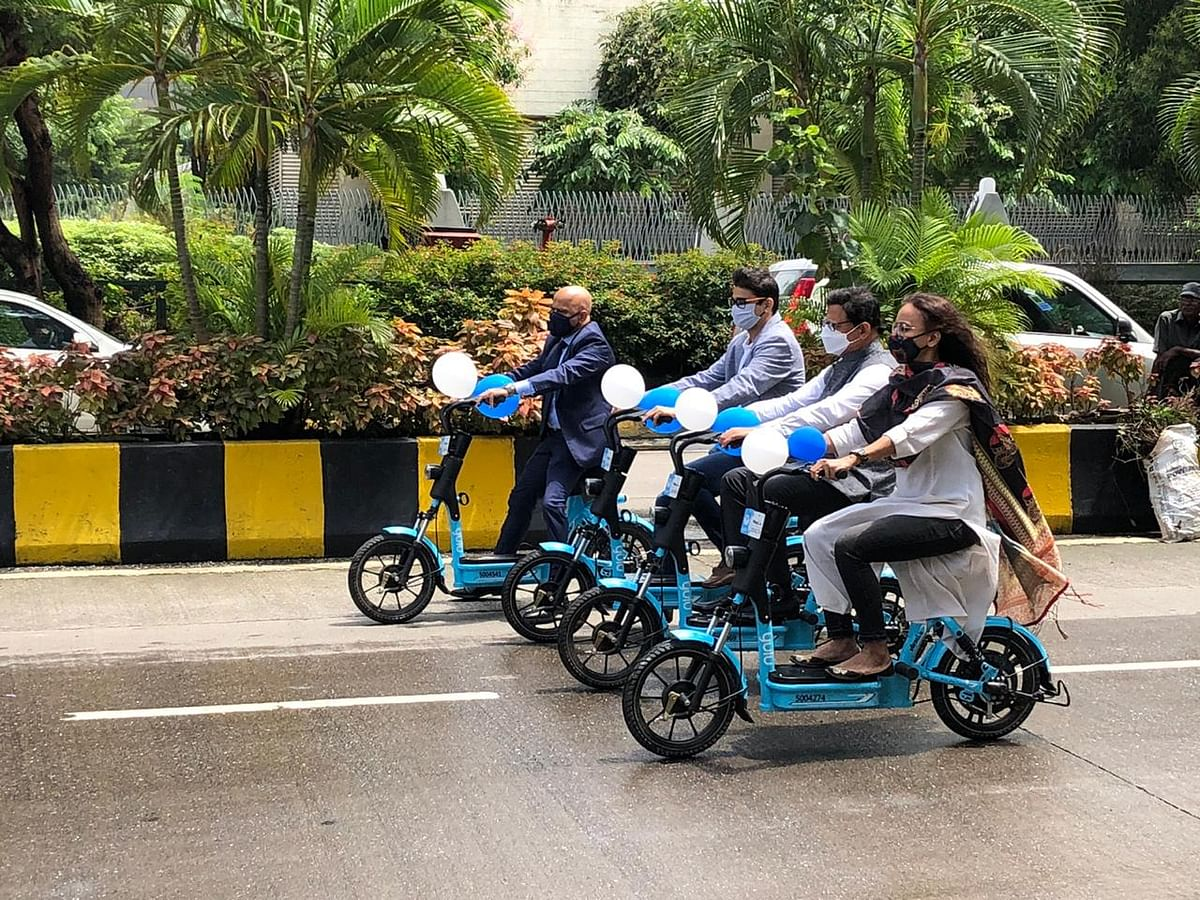 Mumbai: E-bike service for commuting in BKC receiving good response