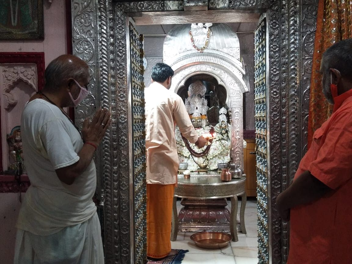 The Brahma temple in Rajasthan's Pushkar opened today for devotees with Mangla Aarti.