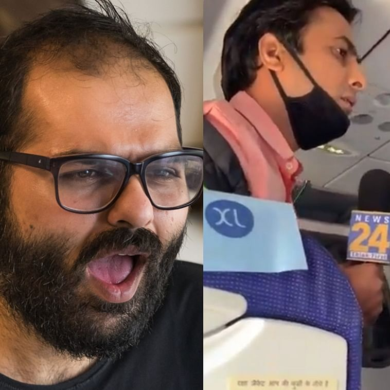 Kangana on the plane: As reporters go nuts on-air, Twitter wonders if they will be 'banned' like Kunal Kamra
