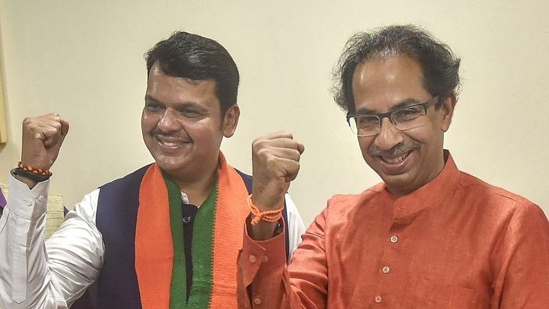 Uddhav Thackeray pictured with Devendra Fadnavis (File Photo)