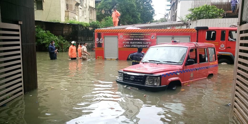Mumbai: Lift in flooded basement turns a watery grave
