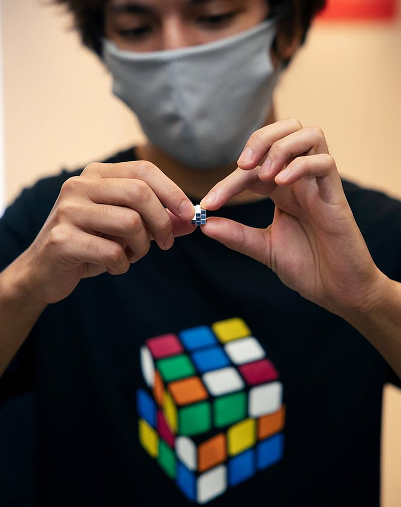 World's smallest Rubik's Cube goes on sale in Japan