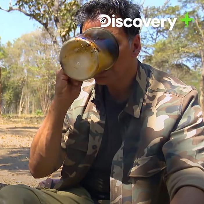 Bewafaa 2.0: Bear Grylls tricks Akshay Kumar into drinking elephant poop tea, watch video