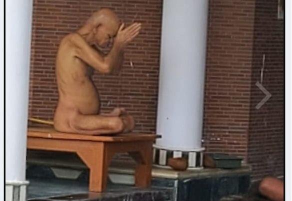 Acharya Vidyasagar Maharaj as seen on Saturday