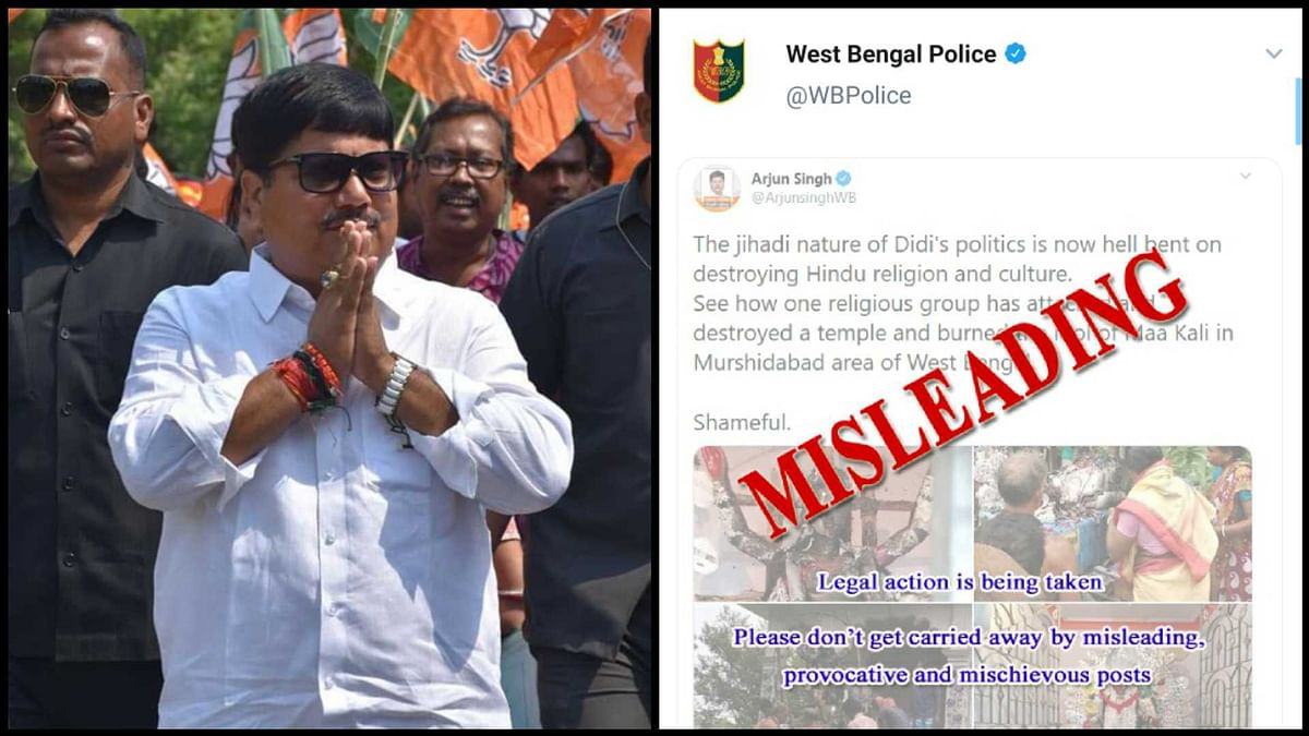 Kali Temple burned? WB Police files FIR against BJP MP Arjun Singh for spreading fake news