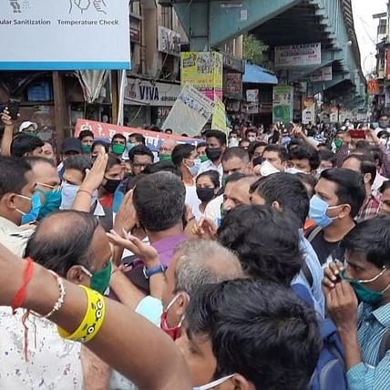 Watch: Angry Virar office-goers demand restart of Mumbai local trains