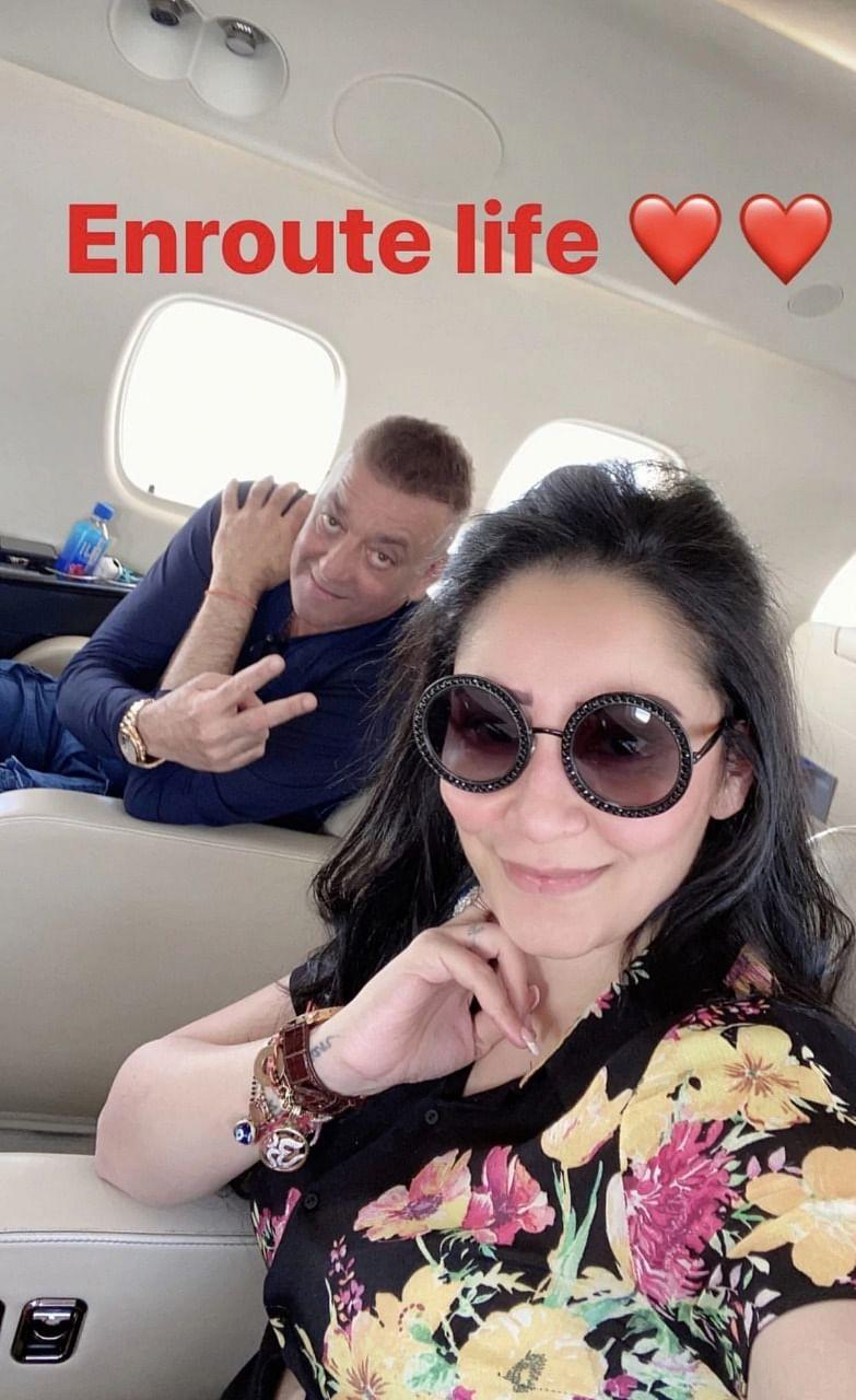 Sanjay Dutt, Maanayata fly to Dubai to meet their lil' munchkins Shahraan and Iqra