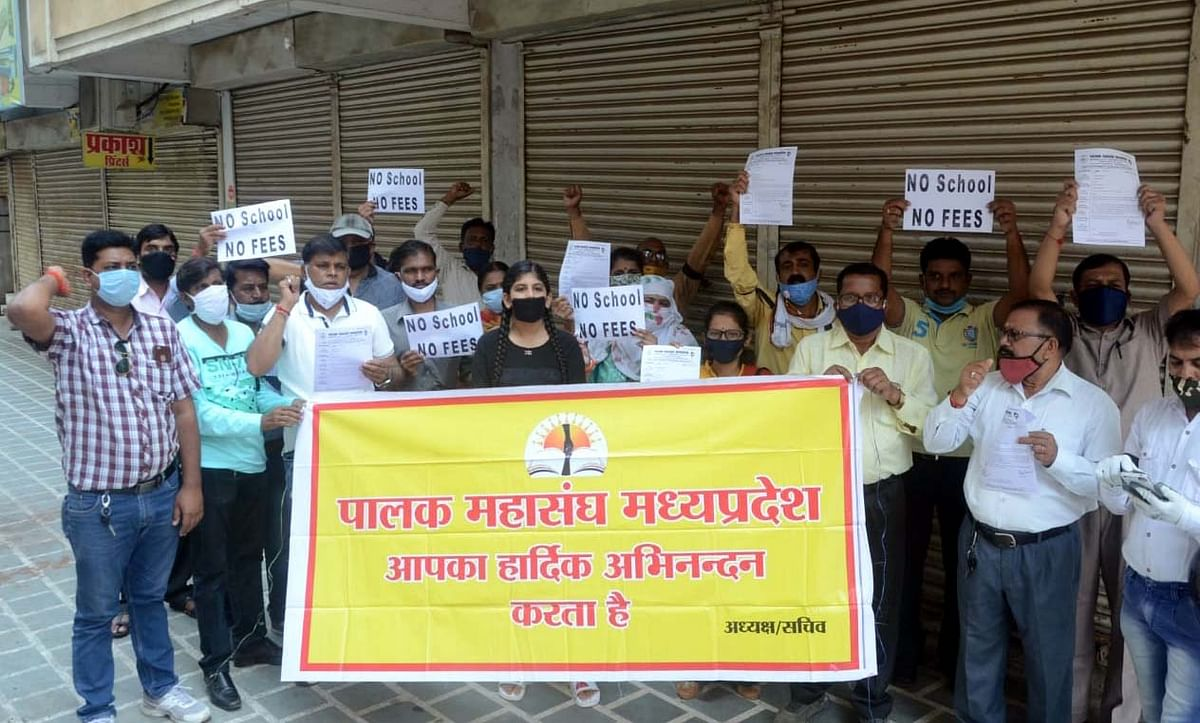 Bhopal: Parents boycott children's online classes as a mark of protest, demand a separate fee for online classes