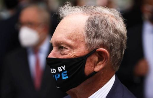 Former New York City Mayor Mike Bloomberg attends a 9/11 memorial service at the National September 11 Memorial and Museum on September 11, 2020 in New York City
