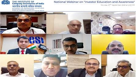 MCA and ICSI jointly organised a Webinar on Investor Education and Protection Fund