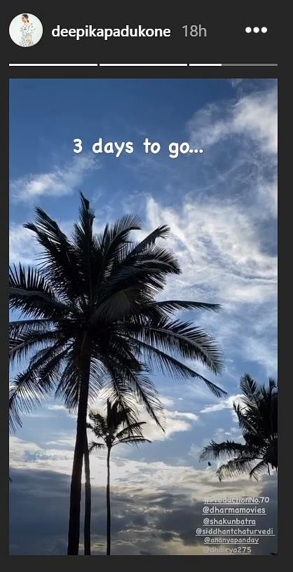 '3 days to go': Deepika Padukone to commence shooting for her next film in Goa