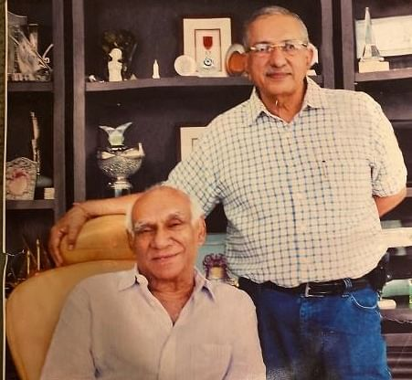 Mahen Vakil with Yash Chopra