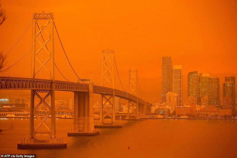 Out of control wildfires sweep US west coast