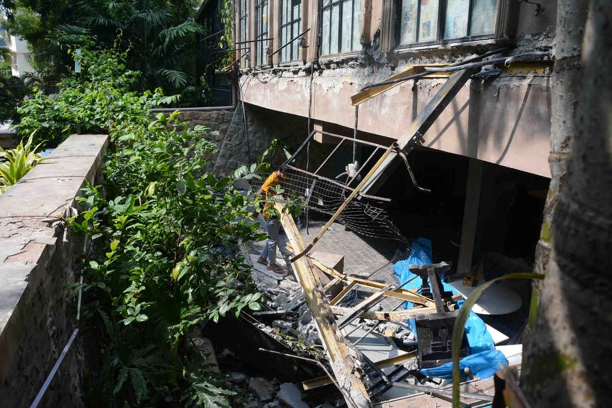 The demolition was carried out on the ground floor, first floor and second floor of the bungalow
